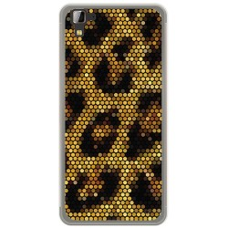Funda Gel Tpu para Hisense C30 Rock Diseño Leopardo Dibujos
