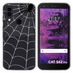 Funda Silicona Transparente para Cat S62 Pro diseño Araña Dibujos