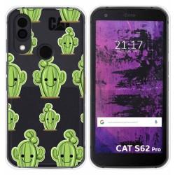 Funda Silicona Transparente para Cat S62 Pro diseño Cactus Dibujos