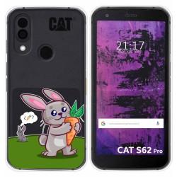Funda Silicona Transparente para Cat S62 Pro diseño Conejo Dibujos