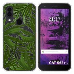 Funda Silicona Transparente para Cat S62 Pro diseño Jungla Dibujos