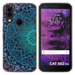 Funda Silicona Transparente para Cat S62 Pro diseño Mandala Dibujos