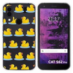 Funda Silicona Transparente para Cat S62 Pro diseño Pato Dibujos
