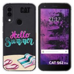 Funda Silicona Transparente para Cat S62 Pro diseño Summer Dibujos