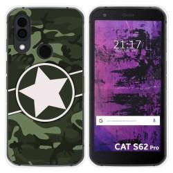 Funda Silicona para Cat S62 Pro diseño Camuflaje 01 Dibujos
