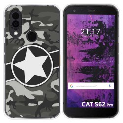 Funda Silicona para Cat S62 Pro diseño Camuflaje 02 Dibujos