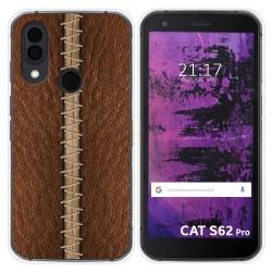 Funda Silicona para Cat S62 Pro diseño Cuero 01 Dibujos