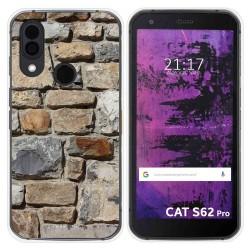 Funda Silicona para Cat S62 Pro diseño Ladrillo 03 Dibujos