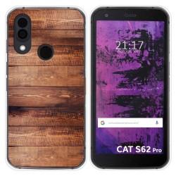 Funda Silicona para Cat S62 Pro diseño Madera 02 Dibujos