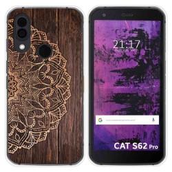 Funda Silicona para Cat S62 Pro diseño Madera 06 Dibujos