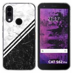 Funda Silicona para Cat S62 Pro diseño Mármol 01 Dibujos