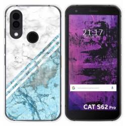 Funda Silicona para Cat S62 Pro diseño Mármol 02 Dibujos