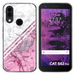 Funda Silicona para Cat S62 Pro diseño Mármol 03 Dibujos