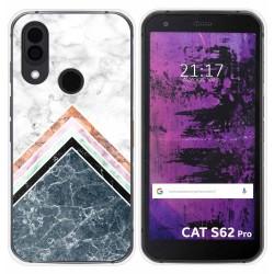Funda Silicona para Cat S62 Pro diseño Mármol 05 Dibujos