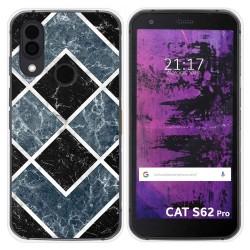 Funda Silicona para Cat S62 Pro diseño Mármol 06 Dibujos
