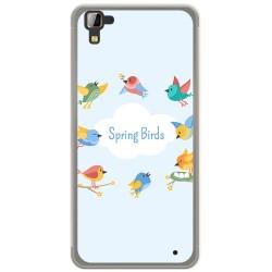 Funda Gel Tpu para Hisense C30 Rock Diseño Spring Birds Dibujos