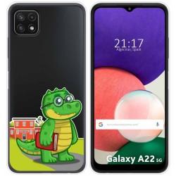 Funda Silicona Transparente para Samsung Galaxy A22 5G diseño Coco Dibujos