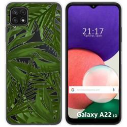 Funda Silicona Transparente para Samsung Galaxy A22 5G diseño Jungla Dibujos