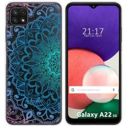 Funda Silicona Transparente para Samsung Galaxy A22 5G diseño Mandala Dibujos