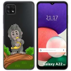 Funda Silicona Transparente para Samsung Galaxy A22 5G diseño Mono Dibujos
