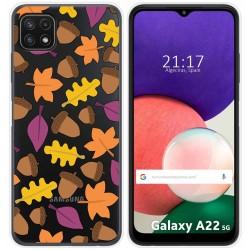 Funda Silicona Transparente para Samsung Galaxy A22 5G diseño Otoño Dibujos