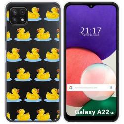 Funda Silicona Transparente para Samsung Galaxy A22 5G diseño Pato Dibujos