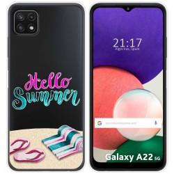 Funda Silicona Transparente para Samsung Galaxy A22 5G diseño Summer Dibujos