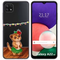 Funda Silicona Transparente para Samsung Galaxy A22 5G diseño Suricata Dibujos