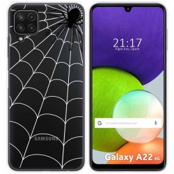 Funda Silicona Transparente para Samsung Galaxy A22 LTE 4G diseño Araña Dibujos