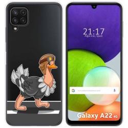 Funda Silicona Transparente para Samsung Galaxy A22 LTE 4G diseño Avestruz Dibujos