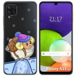 Funda Silicona Transparente para Samsung Galaxy A22 LTE 4G diseño Cabra Dibujos