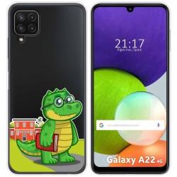 Funda Silicona Transparente para Samsung Galaxy A22 LTE 4G diseño Coco Dibujos