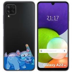 Funda Silicona Transparente para Samsung Galaxy A22 LTE 4G diseño Hipo Dibujos