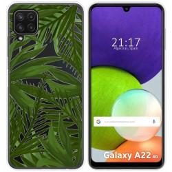 Funda Silicona Transparente para Samsung Galaxy A22 LTE 4G diseño Jungla Dibujos