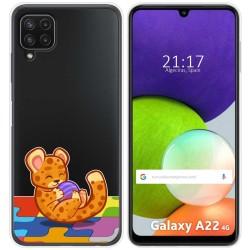 Funda Silicona Transparente para Samsung Galaxy A22 LTE 4G diseño Leopardo Dibujos