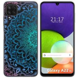 Funda Silicona Transparente para Samsung Galaxy A22 LTE 4G diseño Mandala Dibujos