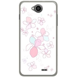 Funda Gel Tpu para Hisense U962 Diseño Flores Minimal Dibujos