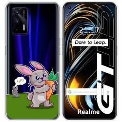 Funda Silicona Transparente para Realme GT 5G diseño Conejo Dibujos
