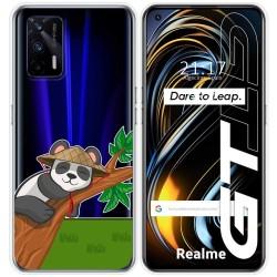 Funda Silicona Transparente para Realme GT 5G diseño Panda Dibujos