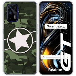 Funda Silicona para Realme GT 5G diseño Camuflaje 01 Dibujos