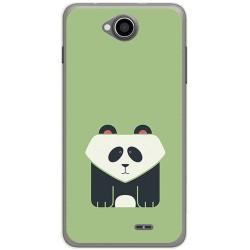 Funda Gel Tpu para Hisense U962 Diseño Panda Dibujos