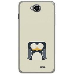 Funda Gel Tpu para Hisense U962 Diseño Pingüino Dibujos