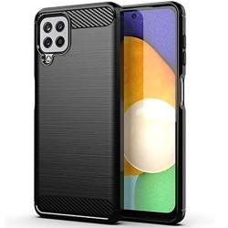 Funda Gel Tpu Tipo Carbon Negra para Samsung Galaxy A22 LTE 4G