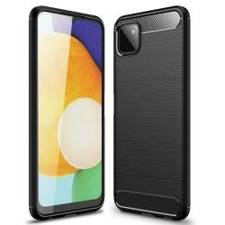 Funda Gel Tpu Tipo Carbon Negra para Samsung Galaxy A22 5G