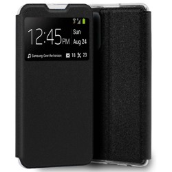 Funda Libro Soporte con Ventana para Samsung Galaxy A22 5G color Negra