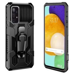 Funda Tough Armor Negra con Clip Magnético para Samsung Galaxy A52 / A52 5G