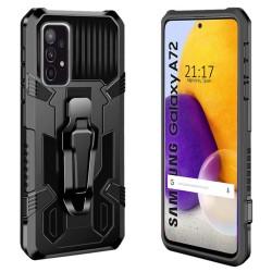 Funda Tough Armor Negra con Clip Magnético para Samsung Galaxy A72
