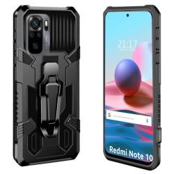 Funda Tough Armor Negra con Clip Magnético para Xiaomi Redmi Note 10 / 10S