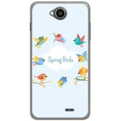 Funda Gel Tpu para Hisense U962 Diseño Spring Birds Dibujos