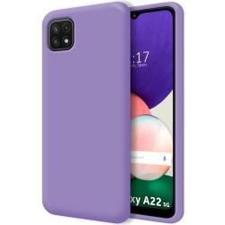 Funda Silicona Líquida Ultra Suave para Samsung Galaxy A22 5G color Morada